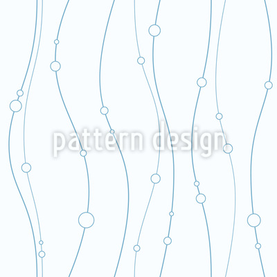 Smooth Lines And Circles Seamless Vector Pattern Design