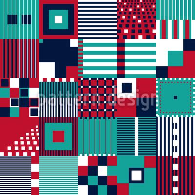 Various Geometric Shapes Seamless Vector Pattern Design