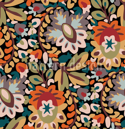 Garden Of Pan Autumn Pattern Design