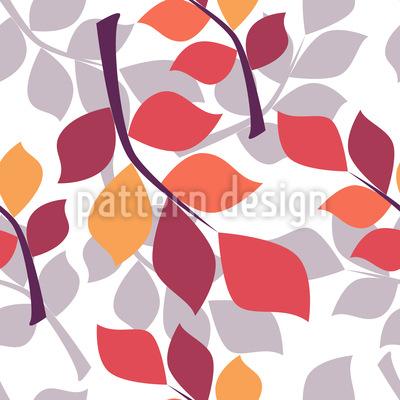 Stilisierte Herbstzweige Nahtloses Vektormuster