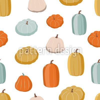 Colorful Pumpkins Seamless Vector Pattern Design