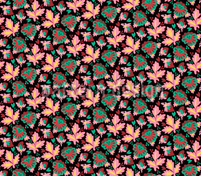 Endblättern Nahtloses Vektor Muster