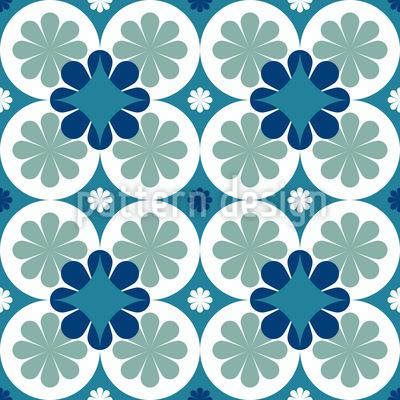 Greek Petals Seamless Vector Pattern Design