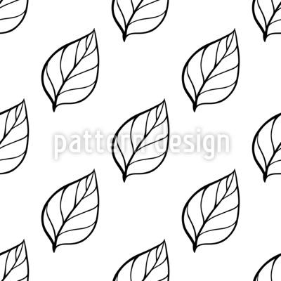 Schwarzweiß-Blätter Nahtloses Vektormuster