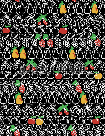 Süsseste Früchte Rapportiertes Design