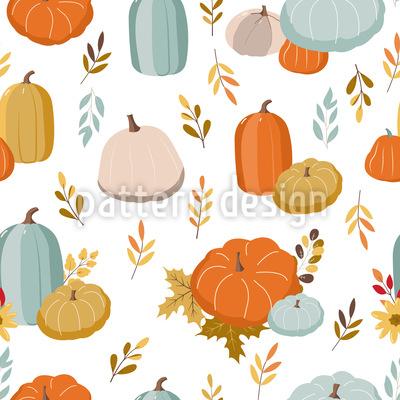 Pastel Autumn Seamless Vector Pattern Design