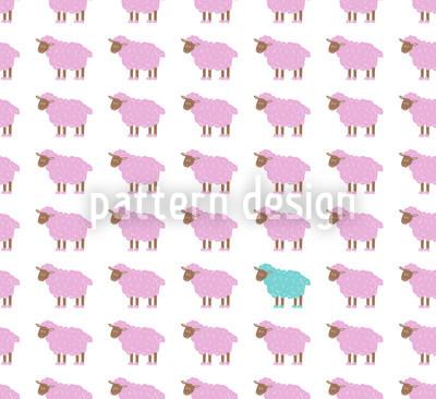 A ovelha turquesa Design de padrão vetorial sem costura