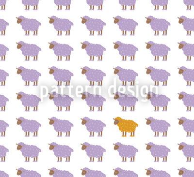 The Orange Sheep Pattern Design