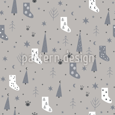 Christmas Socks Mix Seamless Vector Pattern Design