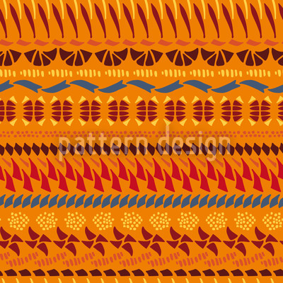 Multi Kulti Orange Vector Pattern