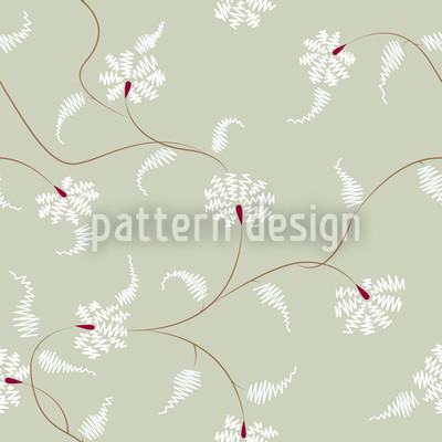 Flora Zack Water Lily Repeat Pattern