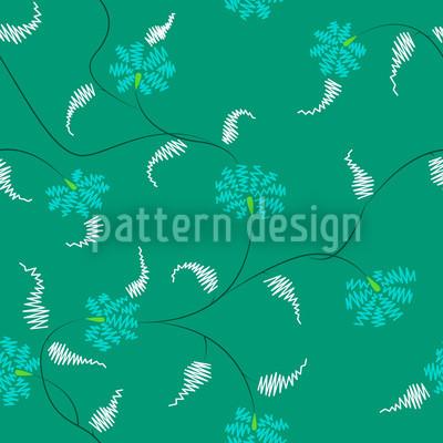フローラ・ザック・エメラルド シームレスなベクトルパターン設計