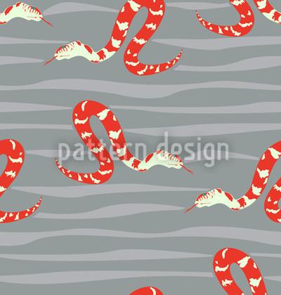 Wasserschlangen Rot Muster Design