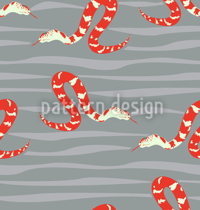 Water Snakes Red Pattern Design