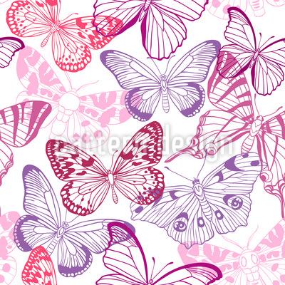 Schmetterling Mix Nahtloses Vektormuster