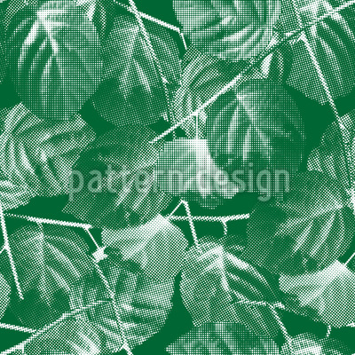 Branches Made Of Dots Seamless Vector Pattern Design