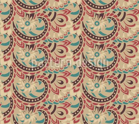 Earth Godess Paisley Seamless Vector Pattern Design
