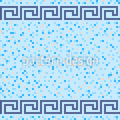 Pool Tile Mosaic Seamless Vector Pattern Design