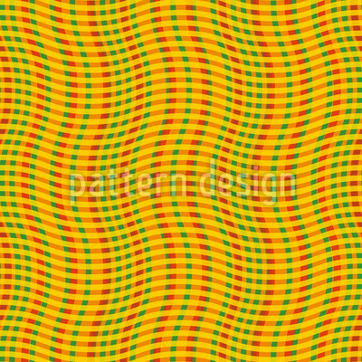 Wavy Check Seamless Vector Pattern Design