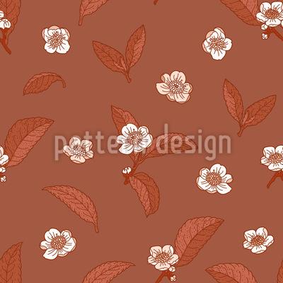 Camellia Splendor Seamless Vector Pattern Design