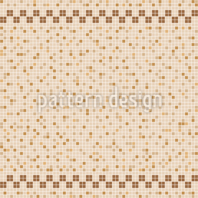 Ceramic Tile Mosaic Seamless Vector Pattern Design