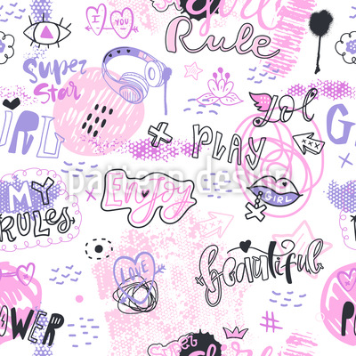 Play And Enjoy Seamless Vector Pattern Design