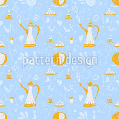 Coffee Arabica Seamless Vector Pattern Design