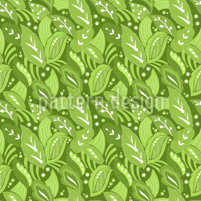 Orientalische Blätter Nahtloses Vektormuster