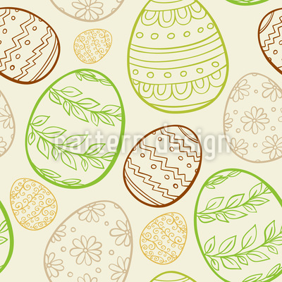 Beautiful Easter Eggs Seamless Vector Pattern Design