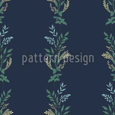 Romantic Flower Ribbons Seamless Vector Pattern Design