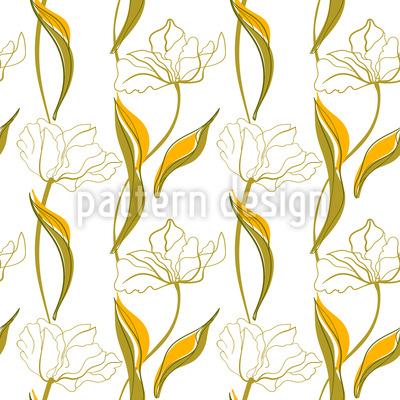 Tulip Arrangement Seamless Vector Pattern Design