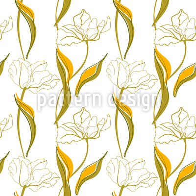 Tulpenarrangement Nahtloses Vektormuster
