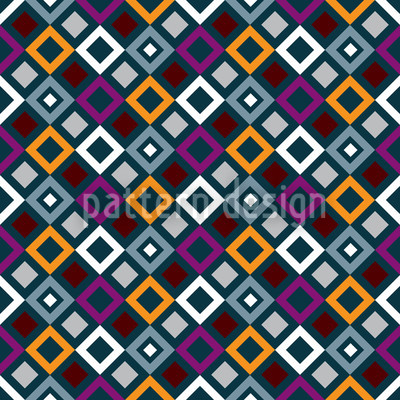 Square Trick Seamless Vector Pattern Design