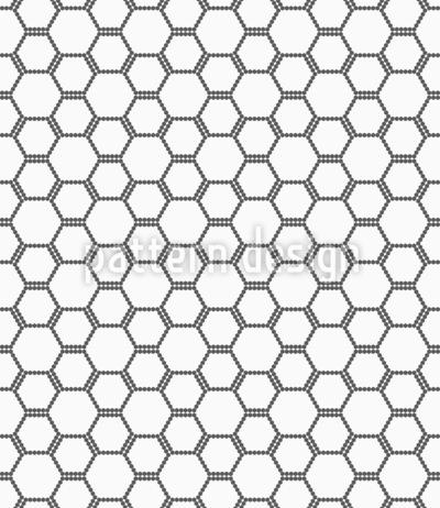Sechseckiges Bienen Gitter Nahtloses Vektormuster