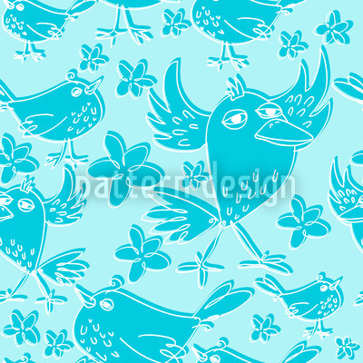 Songbird Sing Turquoise Repeat