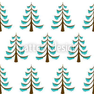 Frosty Wood Design Pattern