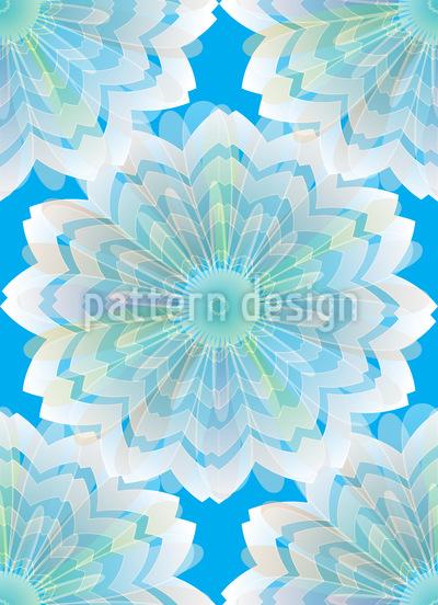 Schleierblumen Nahtloses Vektor Muster