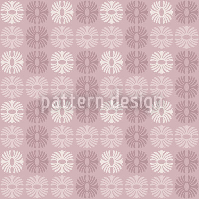 Afro Rose Seamless Vector Pattern Design