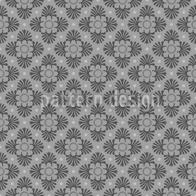 Bloom Grau Vektor Ornament