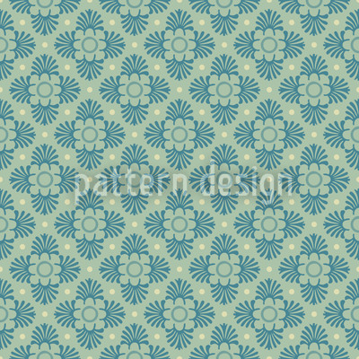 Flor Verde Design de padrão vetorial sem costura