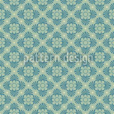 Stylized Bloom Seamless Vector Pattern Design