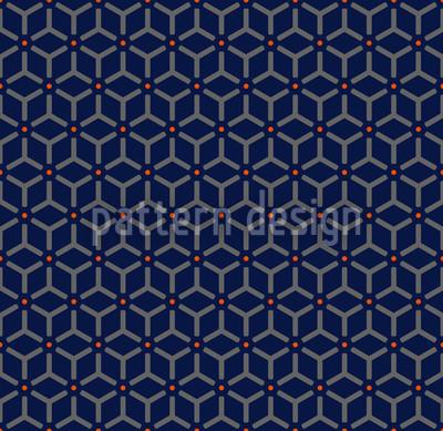 Maroc Blau Muster Design