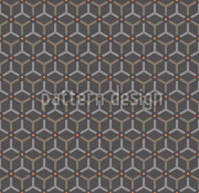 Maroc Charcoal Seamless Vector Pattern Design