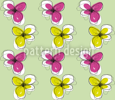 Violas Seamless Vector Pattern Design