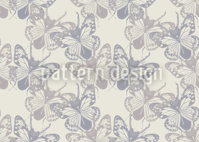 Fly Butterfly Beetle Repeat Pattern