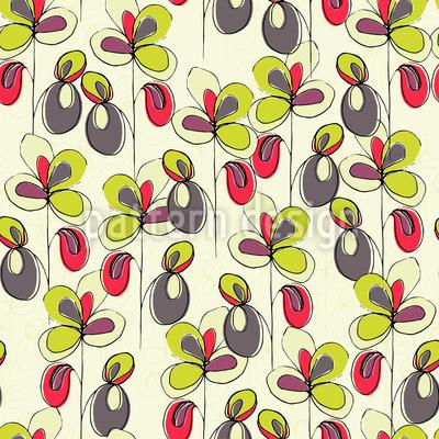 Blumenglück Nahtloses Vektor Muster