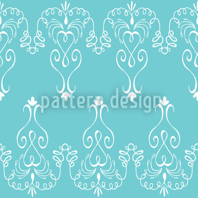 Madame Pompadour Seamless Vector Pattern Design