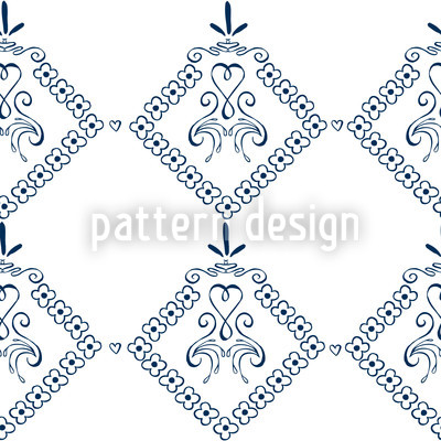 Dekora Blue Seamless Pattern