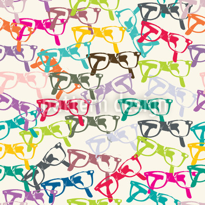 Clear-Sightedness Glasses Seamless Vector Pattern Design