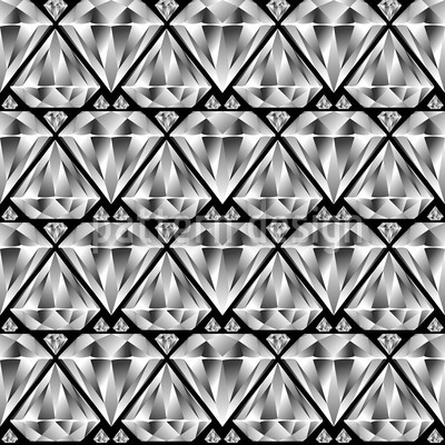Diamant Schwarz Nahtloses Vektormuster